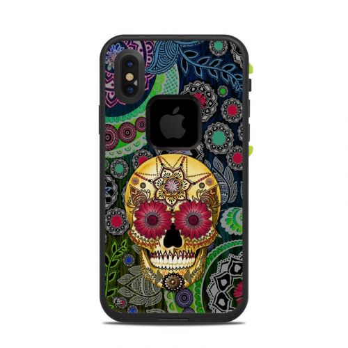 Sugar Skull Paisley LifeProof iPhone X fre Case Skin