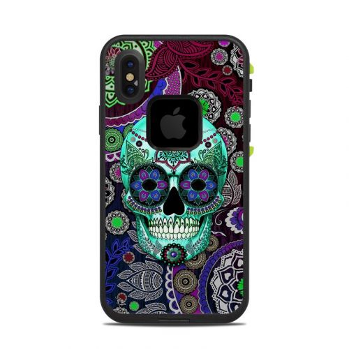 Sugar Skull Sombrero LifeProof iPhone X fre Case Skin
