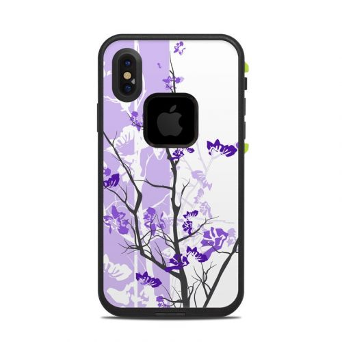 Violet Tranquility LifeProof iPhone X fre Case Skin