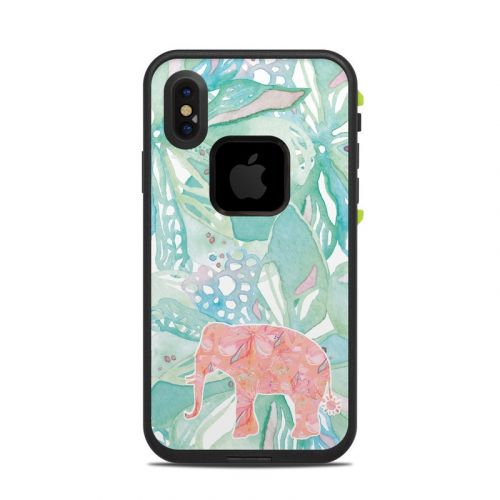 Tropical Elephant LifeProof iPhone X fre Case Skin