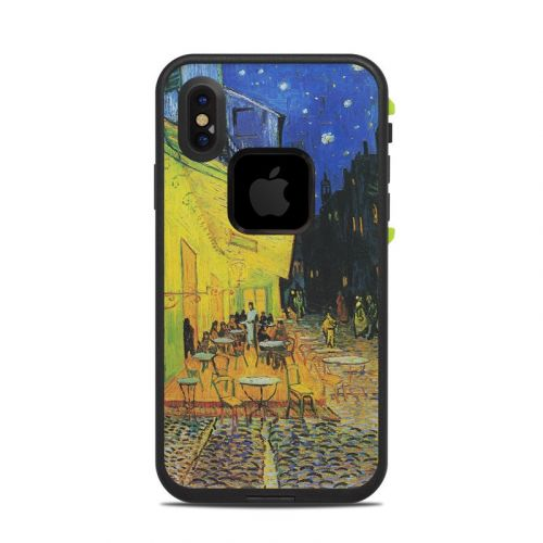 Cafe Terrace At Night LifeProof iPhone X fre Case Skin