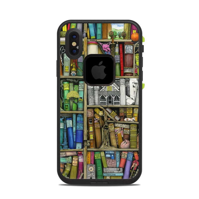 Bookshelf LifeProof iPhone X fre Case Skin