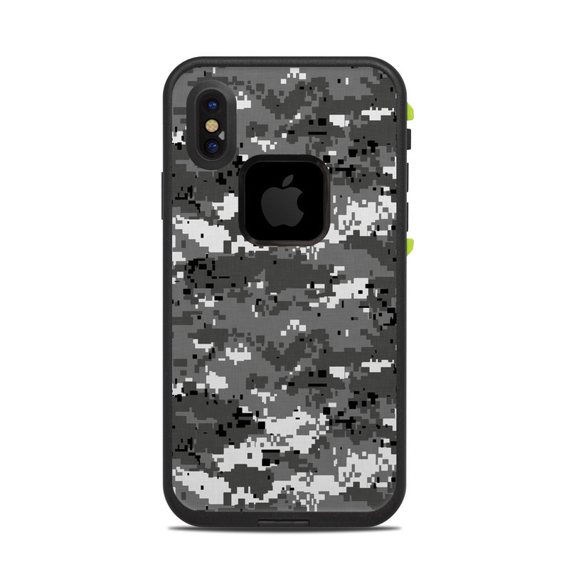 uk availability a4757 d84b1 Digital Urban Camo LifeProof iPhone X fre Case Skin
