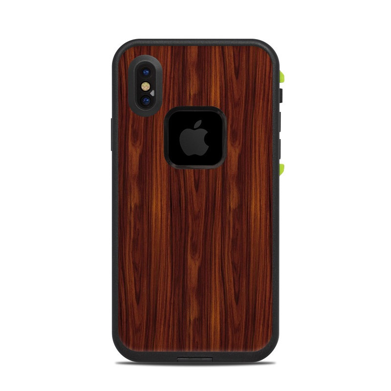 buy online 063d5 c9e7e Dark Rosewood LifeProof iPhone X fre Case Skin