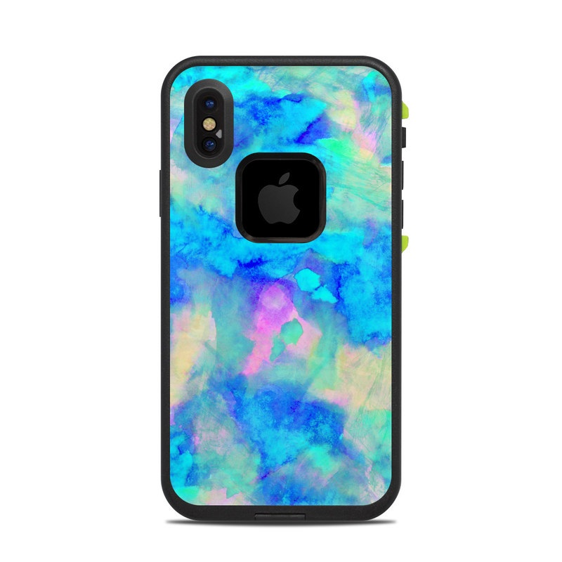 the best attitude d669b 14668 Electrify Ice Blue LifeProof iPhone X fre Case Skin