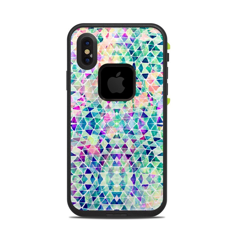 Pastel Triangle LifeProof iPhone X fre Case Skin