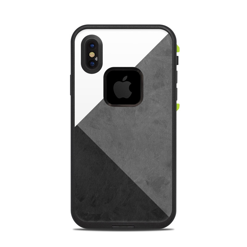 LifeProof iPhone X fre Case Skin design of Black, White, Black-and-white, Line, Grey, Architecture, Monochrome, Triangle, Monochrome photography, Pattern with white, black, gray colors