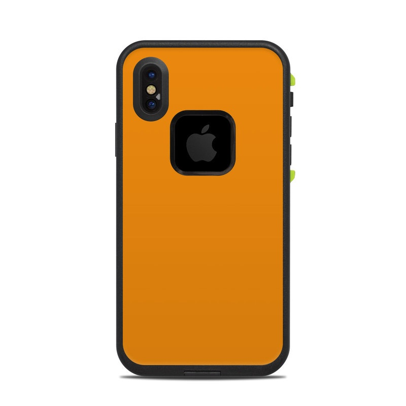 LifeProof iPhone X fre Case Skin design of Orange, Yellow, Brown, Text, Amber, Font, Peach with orange colors