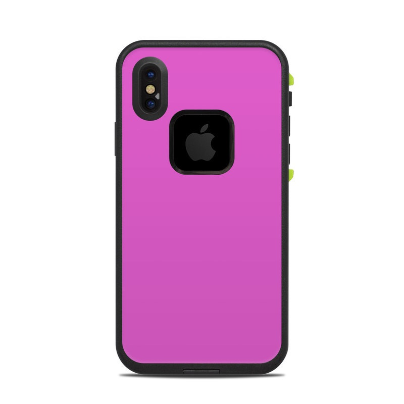 LifeProof iPhone X fre Case Skin design of Violet, Pink, Purple, Red, Lilac, Magenta, Blue, Lavender, Text, Sky with pink colors