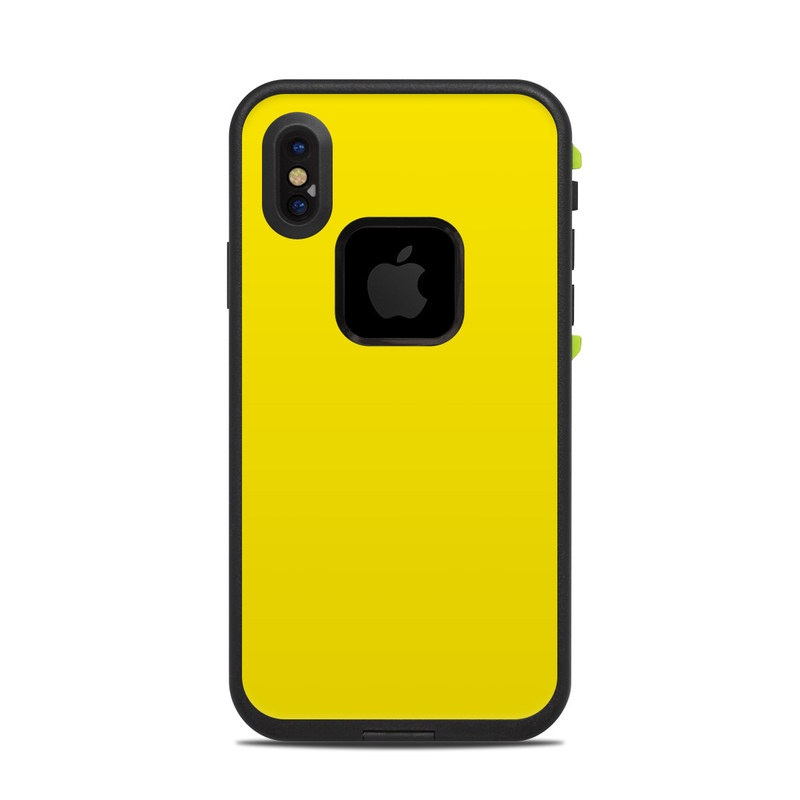 super popular 74e1f 17f1c Solid State Yellow LifeProof iPhone X fre Case Skin