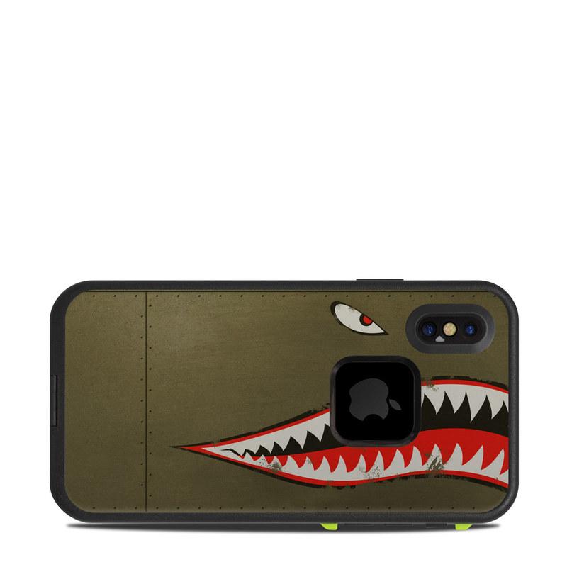 USAF Shark LifeProof iPhone X fre Case Skin
