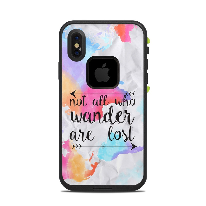 Wander LifeProof iPhone X fre Case Skin