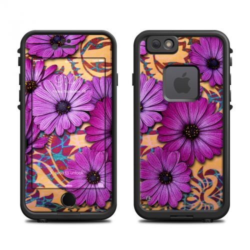 Purple Daisy Damask LifeProof iPhone 6s fre Skin