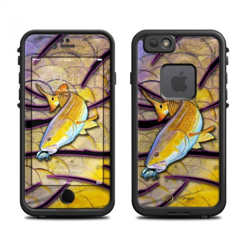 Red Fish LifeProof iPhone 6s fre Skin