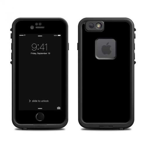 Solid State Black LifeProof iPhone 6s fre Case Skin