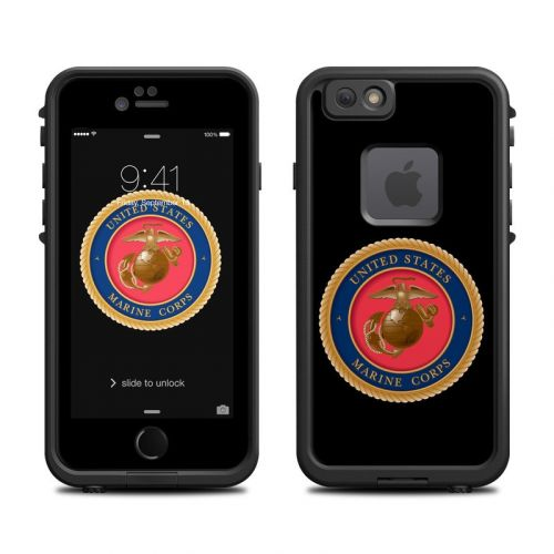 USMC Black LifeProof iPhone 6s fre Case Skin