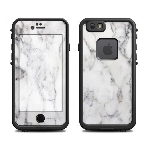 White Marble LifeProof iPhone 6s fre Case Skin