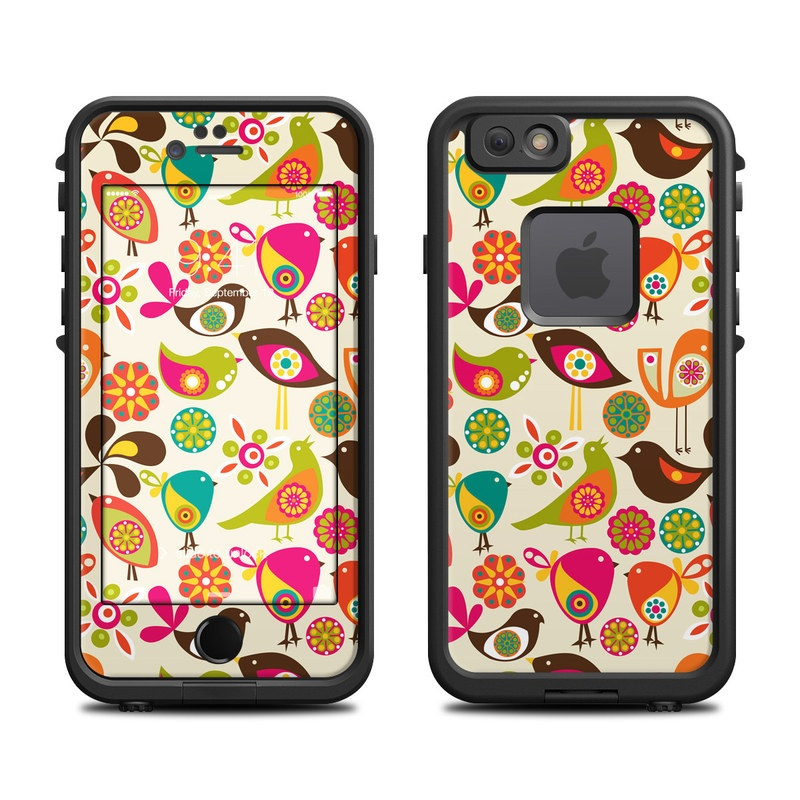 LifeProof iPhone 6s fre Case Skin design of Pattern, Visual arts, Wrapping paper, Design, Clip art, Textile, Motif, Sticker, Graphics with yellow, pink, orange, green, brown, blue colors