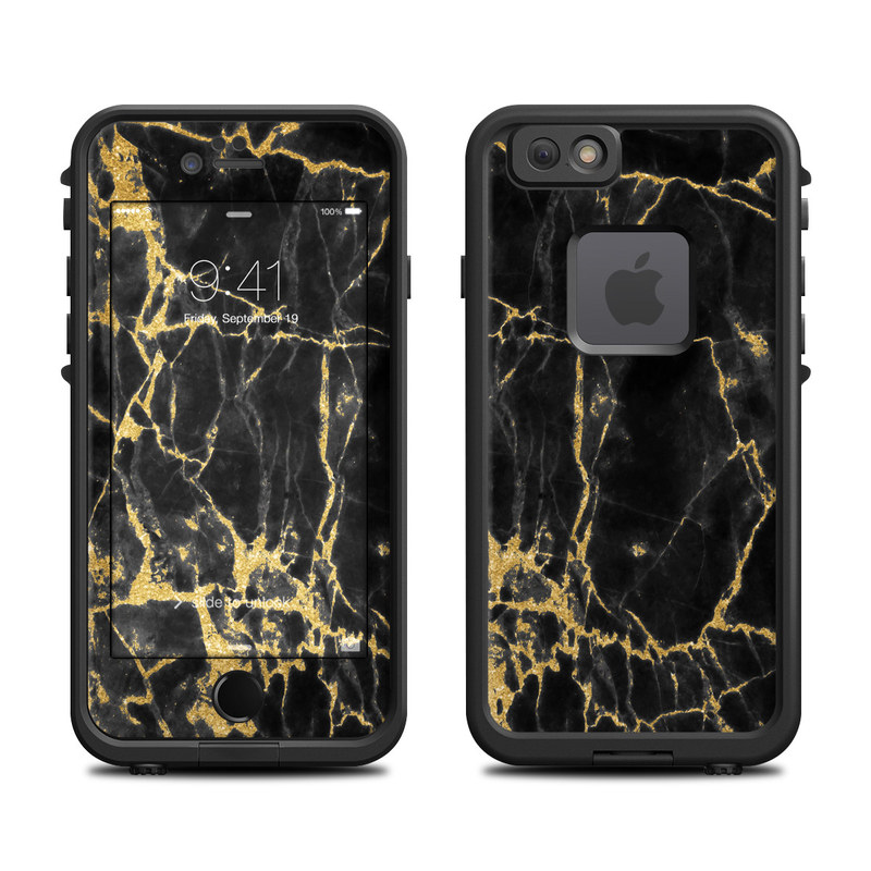 Black Gold Marble LifeProof iPhone 6s fre Skin