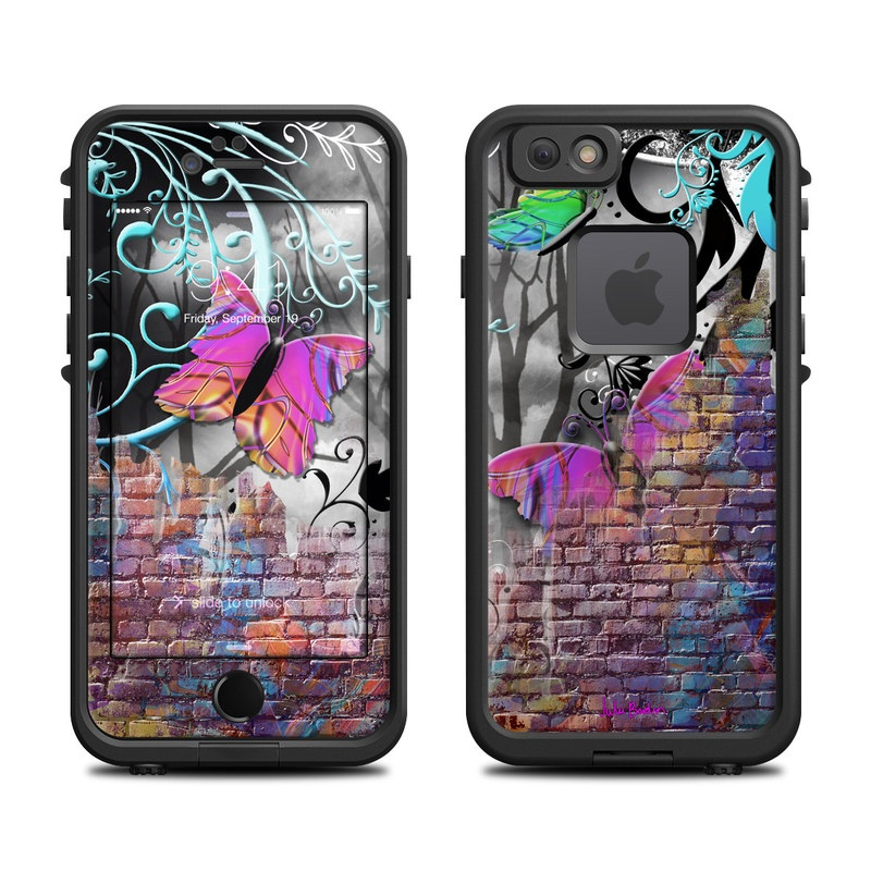 Butterfly Wall LifeProof iPhone 6s fre Case Skin