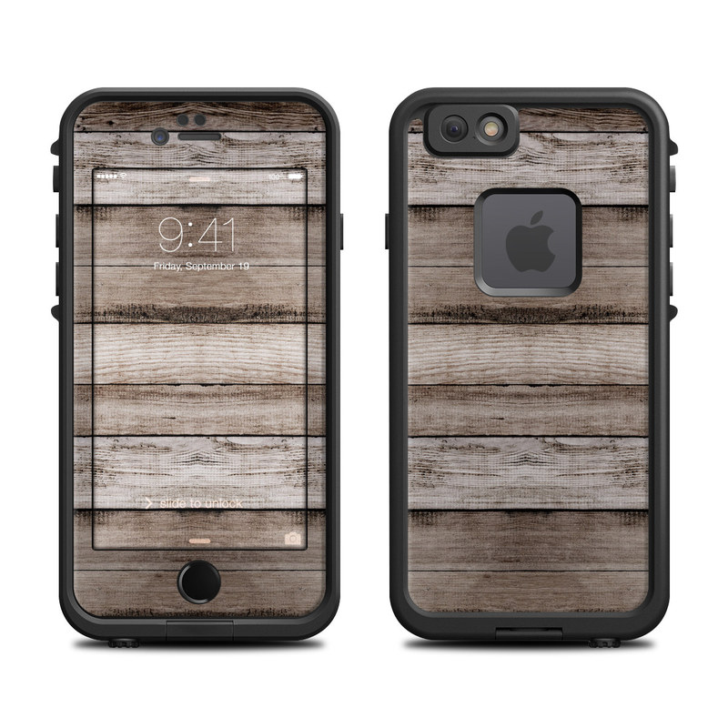 LifeProof iPhone 6s fre Case Skin design of Wood, Plank, Wood stain, Hardwood, Line, Pattern, Floor, Lumber, Wood flooring, Plywood with brown, black colors
