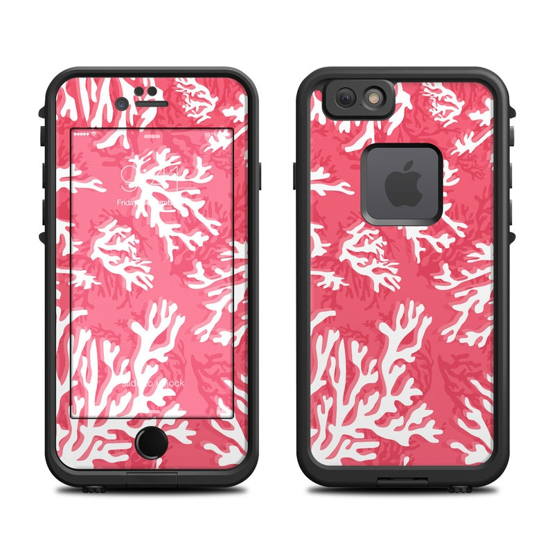 Coral Reef LifeProof iPhone 6s fre Skin
