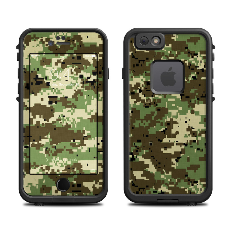 Digital Woodland Camo LifeProof iPhone 6s fre Case Skin