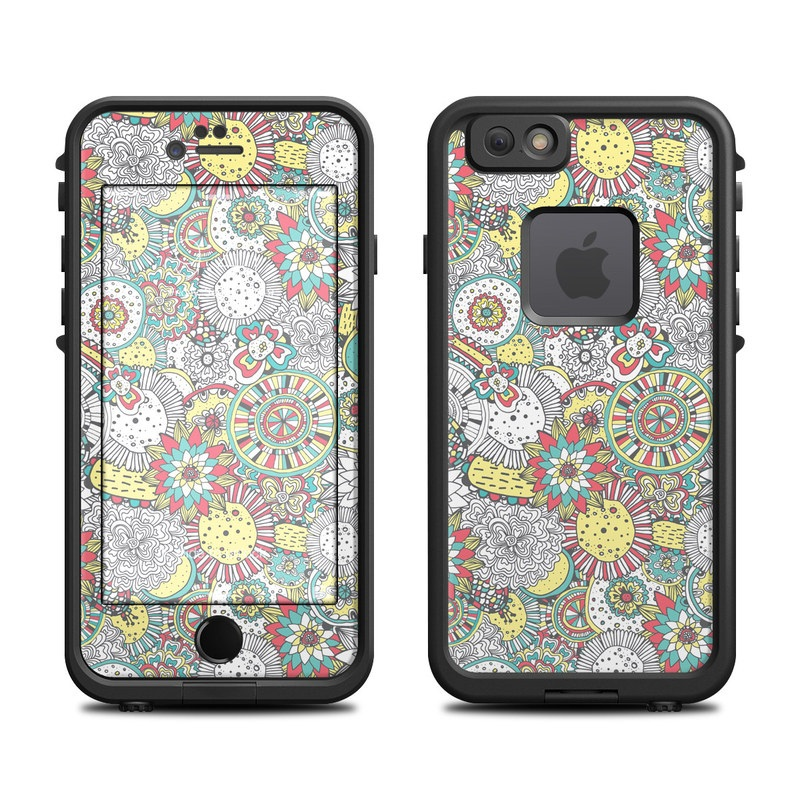 Faded Floral LifeProof iPhone 6s fre Case Skin