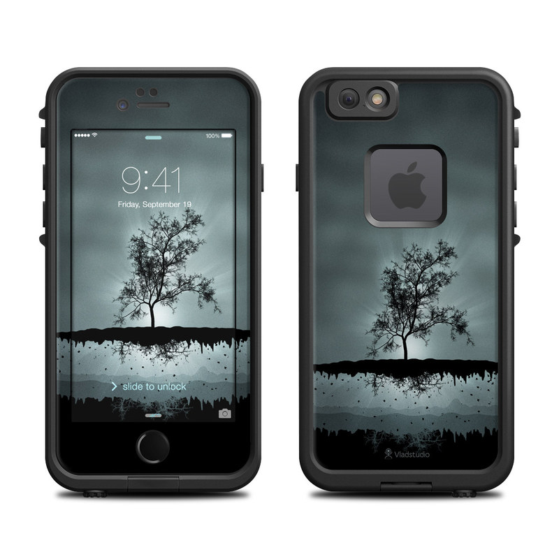 Flying Tree Black LifeProof iPhone 6s fre Case Skin