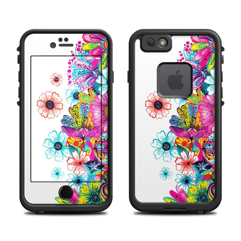 Intense Flowers LifeProof iPhone 6s fre Case Skin