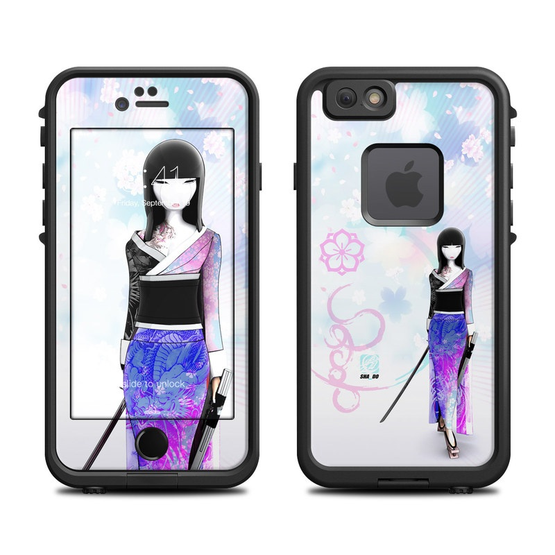 LifeProof iPhone 6s fre Case Skin design of Clothing, Fashion illustration, Fashion model, Pink, Fashion, Purple, Fashion design, Dress, Barbie, Illustration with white, pink, purple, black, blue colors