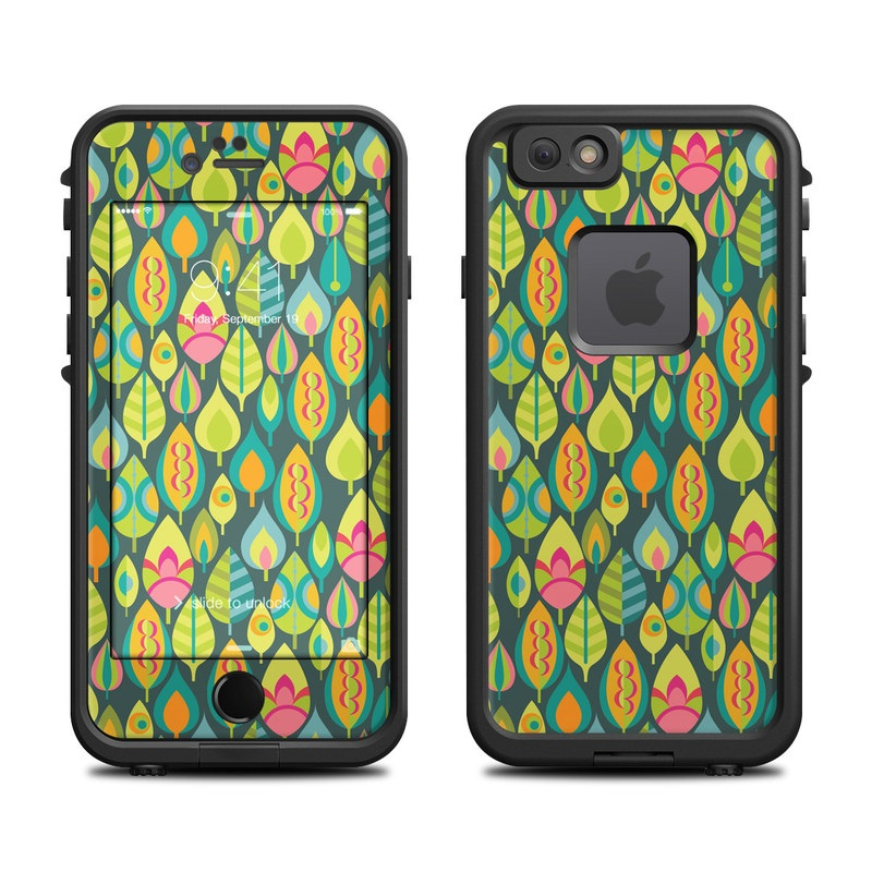 LifeProof iPhone 6s fre Case Skin design of Pattern, Visual arts, Design, Textile, Art, Wrapping paper with green, orange, blue, pink colors