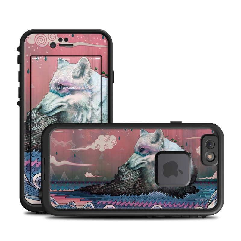 LifeProof iPhone 6s fre Case Skin design of Illustration, Art with gray, black, blue, red, purple colors