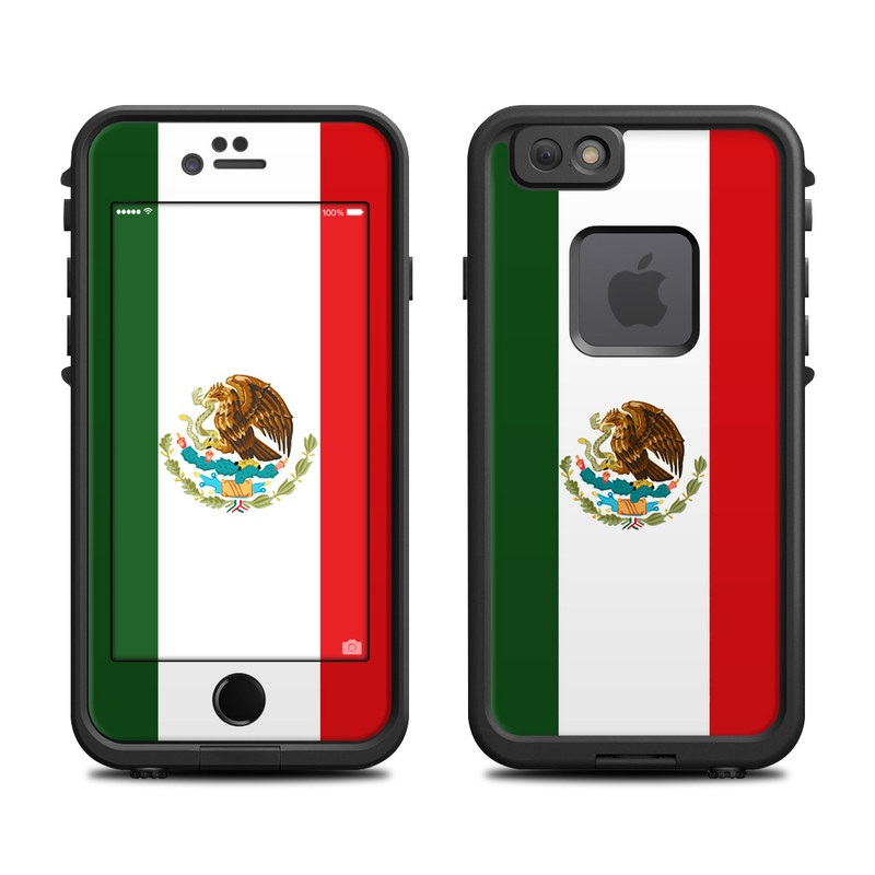 new style ea0f6 ec666 Mexican Flag LifeProof iPhone 6s fre Case Skin