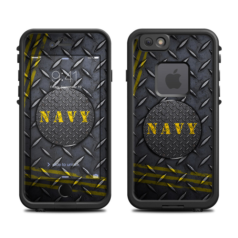 Navy Diamond Plate LifeProof iPhone 6s fre Case Skin
