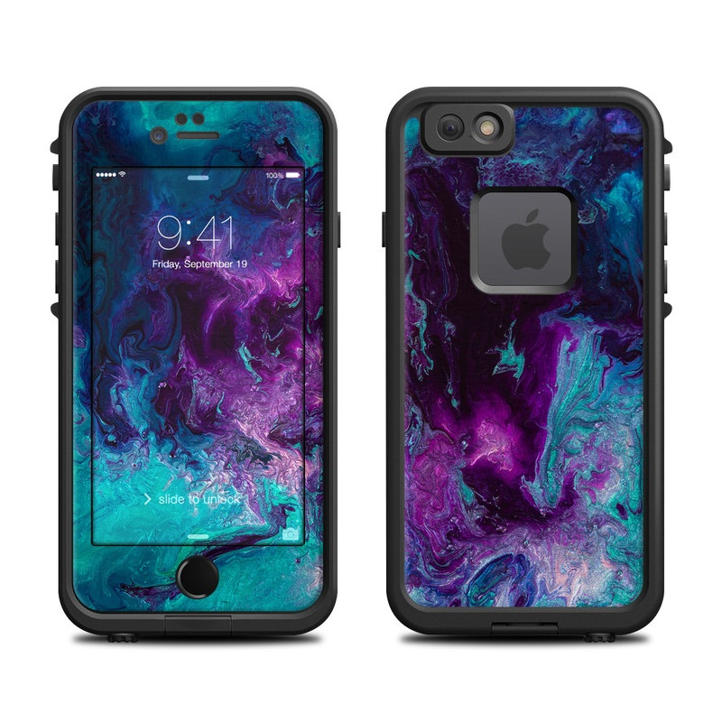 LifeProof iPhone 6s fre Case Skin design of Blue, Purple, Violet, Water, Turquoise, Aqua, Pink, Magenta, Teal, Electric blue with blue, purple, black colors