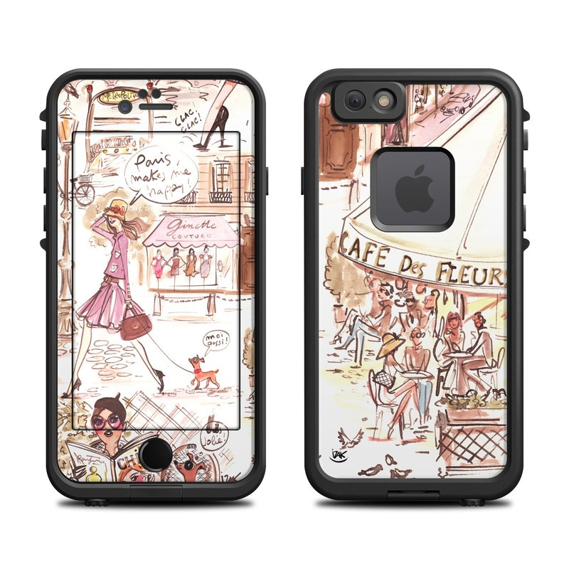 Paris Makes Me Happy LifeProof iPhone 6s fre Case Skin