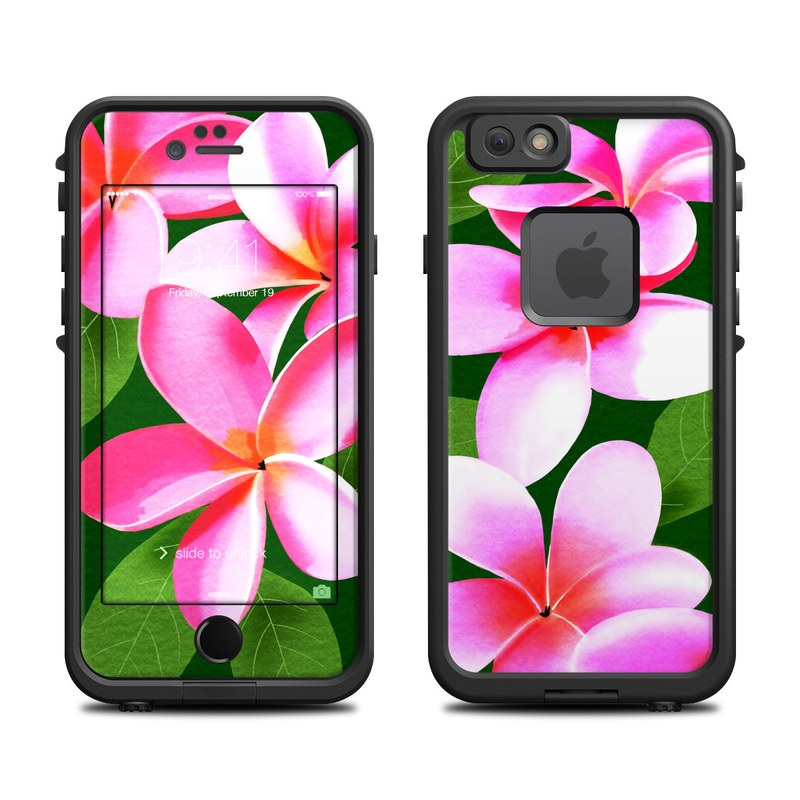 LifeProof iPhone 6s fre Case Skin design of Flower, Petal, frangipani, Pink, Plant, Botany, Flowering plant, Impatiens with pink, black, green, white colors