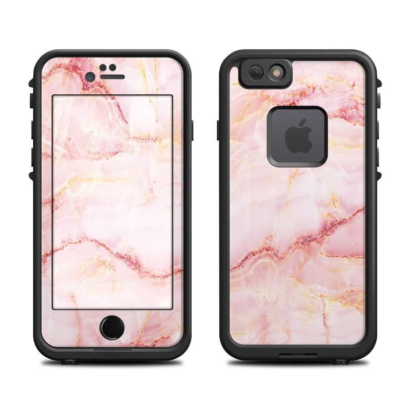 LifeProof iPhone 6s fre Case Skin design of Pink, Peach with white, pink, red, yellow, orange colors