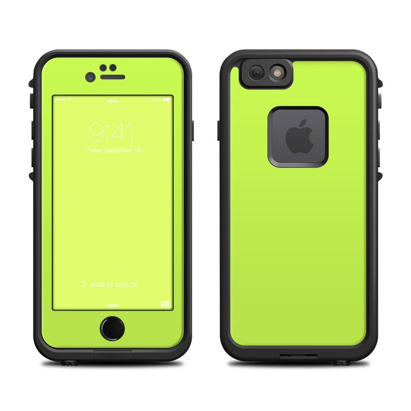 LifeProof iPhone 6s fre Case Skin design of Green, Yellow, Text, Leaf, Font, Grass with green colors