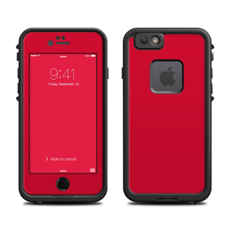 Solid State Red LifeProof iPhone 6s fre Case Skin