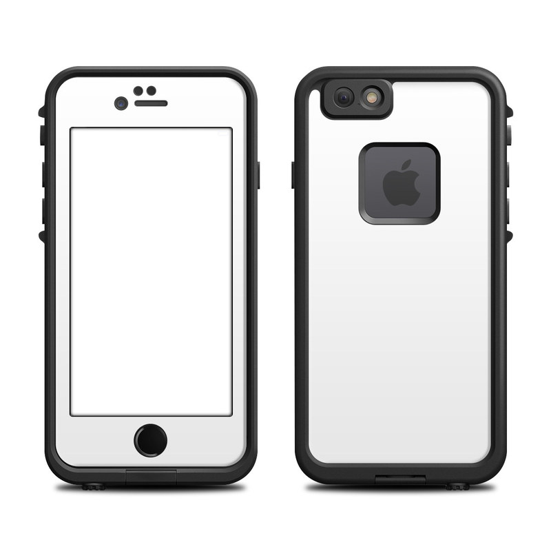 LifeProof iPhone 6s fre Case Skin design of White, Black, Line with white colors