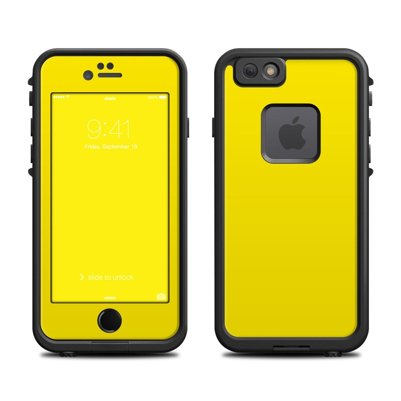 Solid State Yellow LifeProof iPhone 6s fre Case Skin