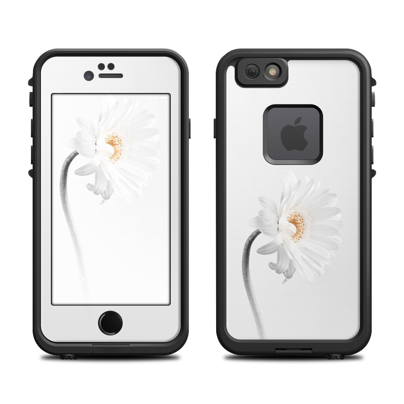 LifeProof iPhone 6s fre Case Skin design of White, Hair accessory, Headpiece, Gerbera, Petal, Flower, Plant, Still life photography, Headband, Fashion accessory with white, gray colors