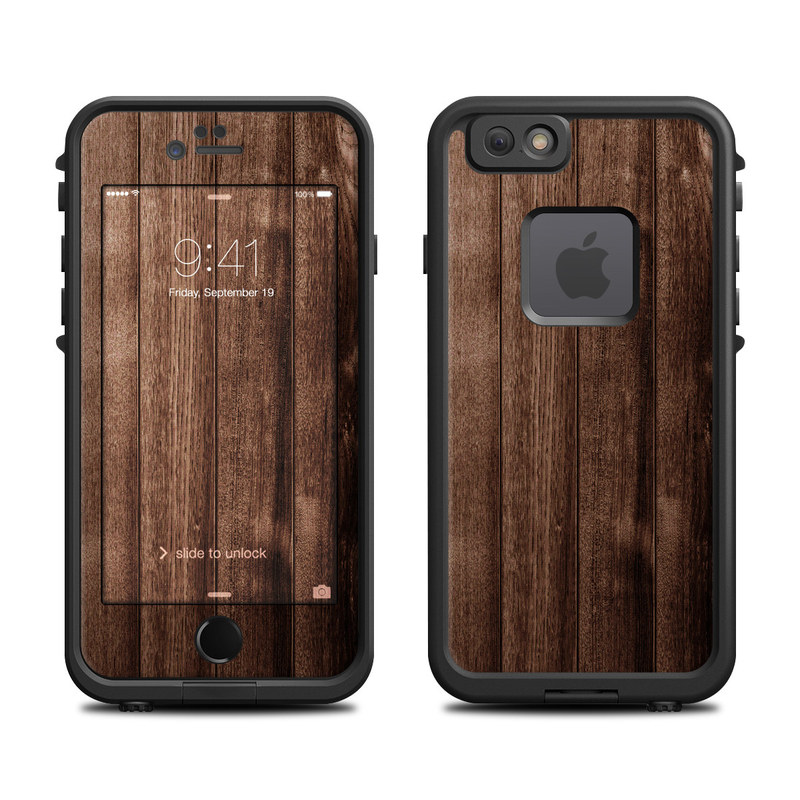 Stained Wood LifeProof iPhone 6s fre Case Skin