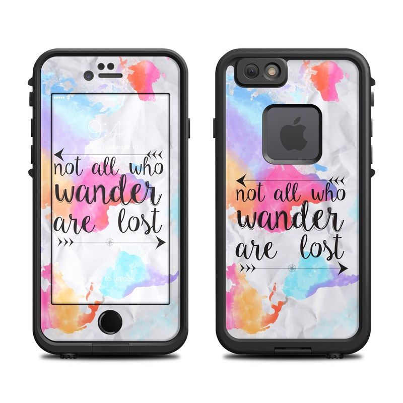 LifeProof iPhone 6s fre Case Skin design of Font, Text, Calligraphy, Graphics with black, white, orange, pink, red, blue, purple, yellow colors