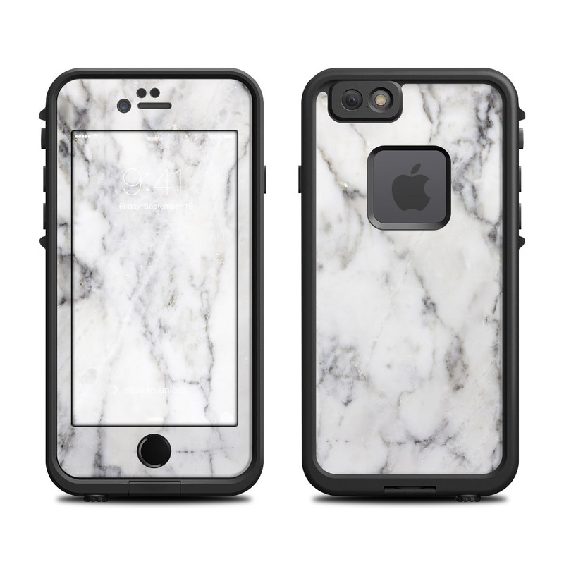 competitive price 45446 5c886 White Marble LifeProof iPhone 6s fre Case Skin