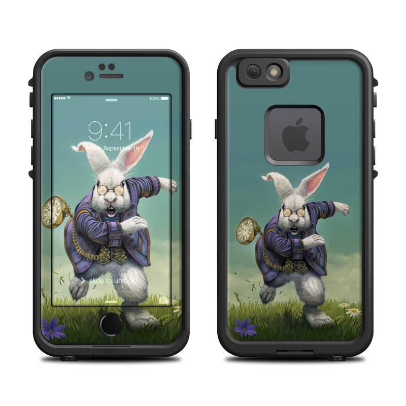 LifeProof iPhone 6s fre Case Skin design of Rabbit, Illustration, Rabbits and Hares, Grass, Hare, Screenshot, Meadow, Easter bunny, Plant, Massively multiplayer online role-playing game with blue, gray, black, green colors