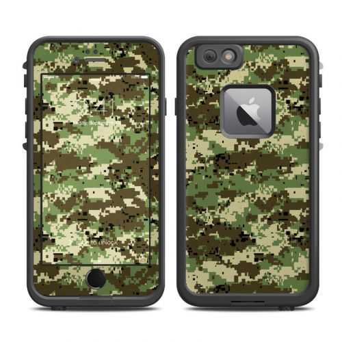 Digital Woodland Camo LifeProof iPhone 6s Plus fre Case Skin