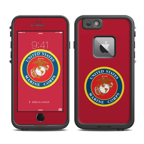 USMC Red LifeProof iPhone 6s Plus fre Case Skin